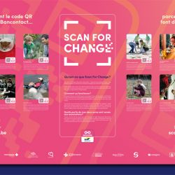 La Ligue partenaire de l'action Scan for Change (Bancontact Payconiq)