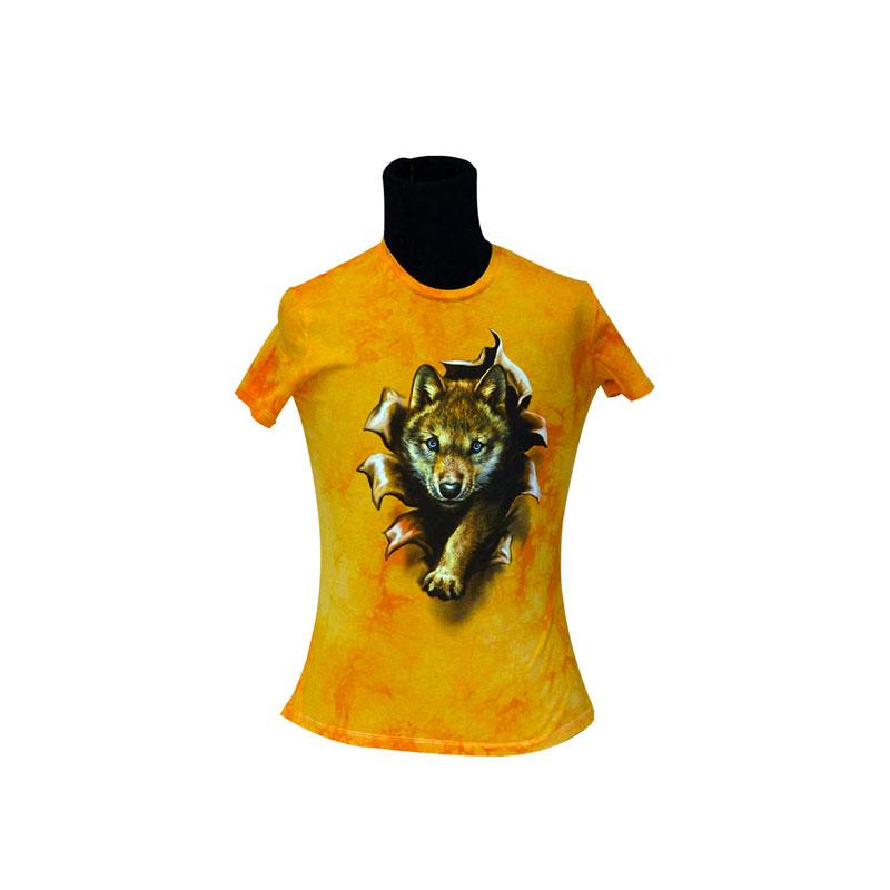 Tee Shirt Enfant Louveteau Dessin Recto Verso Marbré