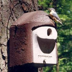 Nichoirs en béton de bois