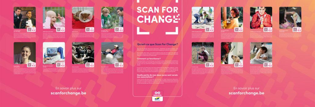 La Ligue partenaire de l'action Scan for Change (Bancontact Payconiq)