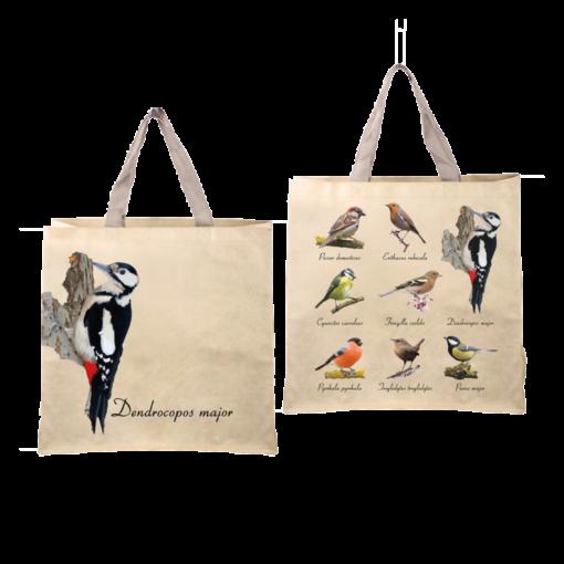 joli sac shopping oiseaux