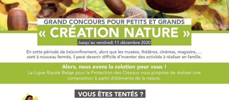 """Grand concours  pour petits et grands """"Création Nature"""""""